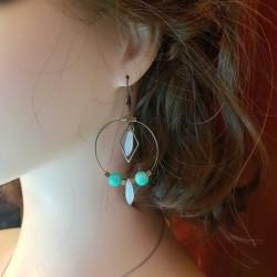 Boucles d'oreilles créole bronze fait main | Bijoux fantaisies | boucles d'oreilles fantaisies | Boucles d'oreilles en bronze