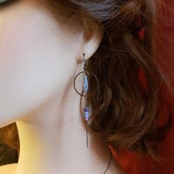 Bijoux fantaisies faits main | boucles d'oreilles en bronze | Boucles d'oreilles en perles tchèques