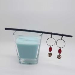 Bijoux fantaisies | boucles d'oreilles fantaisies | Boucles d'oreilles en feuille de philodendron