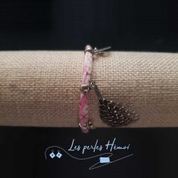 Bijoux fantaisies | bracelet fantaisies | Bracelet Liberty Fleurs rose