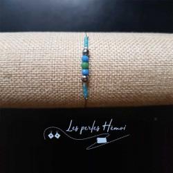 Bijoux fantaisies lyon | bracelet fantaisies lyon | Bracelet fil cablé | Bracelet perles hématite