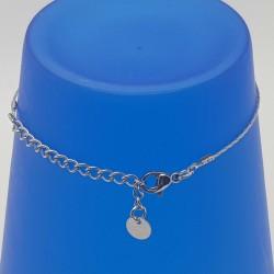 Bijoux fantaisies lyon | bracelet fantaisies lyon | Bracelet chaine argent | Bracelet perle rose et argenté