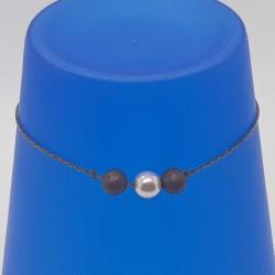 Bijoux fantaisies lyon | bracelet fantaisies lyon | Bracelet chaine bronze et perles | Bracelet chaine perles rose et cuivre