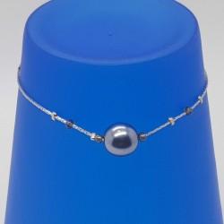 Bijoux fantaisies | bracelet fantaisies | Bracelet chaine argent et perles | Bijoux fantaisies lyon | Bracelets fantaisies lyon