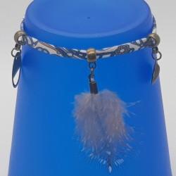Bijoux fantaisies   bracelet fantaisies   Bracelet Liberty Fleurs bleu   Bijoux fantaisies lyon   Bracelets fantaisies lyon