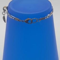 Bijoux fantaisies | bracelet fantaisies | Bracelet Liberty Fleurs bleu | Bijoux fantaisies lyon | Bracelets fantaisies lyon