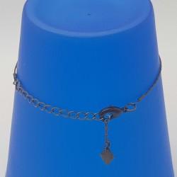Bijoux fantaisies lyon   bracelet fantaisies lyon   Bracelet chaine bronze et perle   Bracelet chaine perle rose et losange