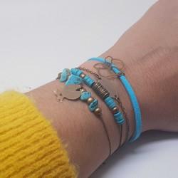 Bracelets faits main lyon | Bracelets en bronze | Bracelets en perles howlite | Bracelet original