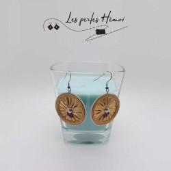 Boucles d'oreilles fantaisies   Bijoux fantaisies   Boucles d'oreilles recyclées   Boucles d'oreilles faits main