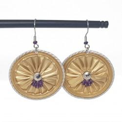 Boucles d'oreilles fantaisies | Bijoux fantaisies | Boucles d'oreilles recyclées | Boucles d'oreilles faits main