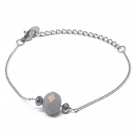 Bracelet fantaisies lyon   Bracelet faits main lyon   Bracelet chaine bronze   Bracelet perles nacrées roses et cuivre