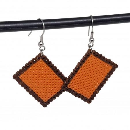 Boucles d'oreilles en perle hama | Boucles d'oreilles biscuit lu | Bijoux fantaisies faits main lyon