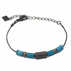 Bracelets fantaisies lyon | Bracelets faits main lyon | Bracelets en bronze | Bracelets en perles howlite | Bracelet artisanal