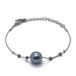 Bracelet fantaisies | Bracelet chaine | Bracelet fantaisie argent | Bracelet fantaisie perles nacrées | Bijoux fantaisies lyon
