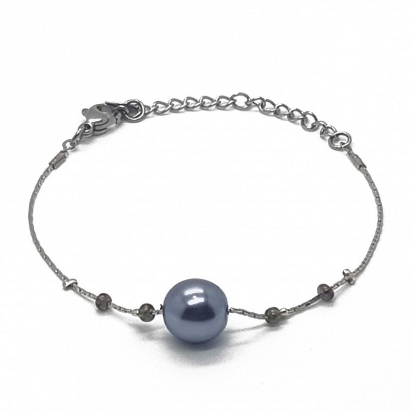 Bracelet fantaisies   Bracelet chaine   Bracelet fantaisie argent   Bracelet fantaisie perles nacrées   Bijoux fantaisies lyon