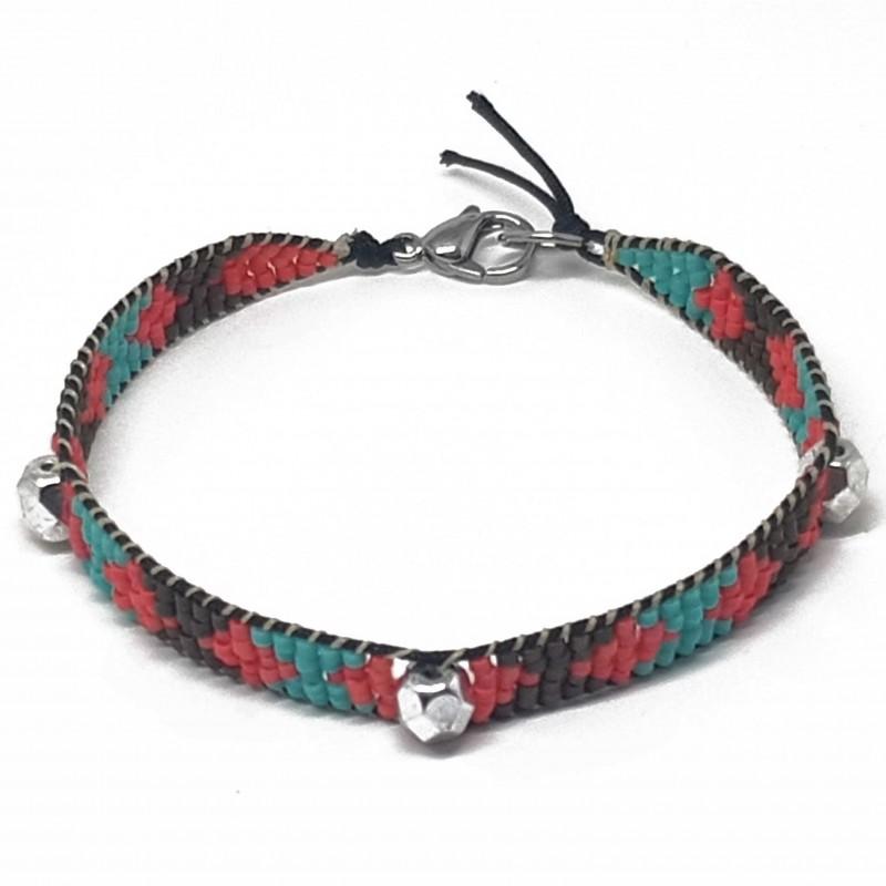 Bracelet fantaisies lyon | Bracelet faits main lyon | Bracelet perles miyuki tissées | Bracelet perles du Japon
