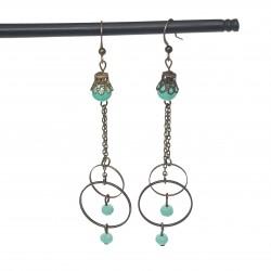 Bijoux fantaisies | boucles d'oreilles fantaisies | Bijoux fantaisies faits main lyon | Boucles d'oreilles vertes