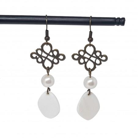 Boucles d'oreilles fantaisies lyon | Boucles d'oreilles faits main lyon | Boucles d'oreilles en bronze