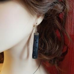 Bijoux fantaisies | boucles d'oreilles fantaisies faits main | Boucles d'oreilles pendantes en chambre à air