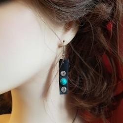 Bijoux fantaisies | boucles d'oreilles fait main | Boucles d'oreilles de créateur recyclé chambre à air